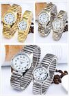 XAPWV Elastic stretch band for men and women couple watches quartz casual round image