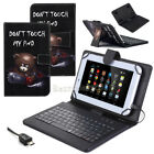 "For 9.7"" 10"" 10.5"" Tablet Protect PU Leather Case Cover USB With Keyboard+Pen US"