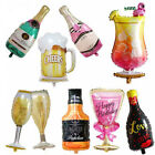 Внешний вид - Whiskey Wine Bottle Beer Cup Balloon 30th 40th 50th 60th Birthday Party Supplies