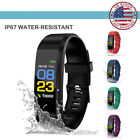 USA IP67 Waterproof Smart Watch Heart Rate Monitor Pedometer Tracker Sport ID115