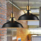 Retro Vintage Industrial Black Metal Hanging Ceiling Pendant Light Shade Kitchen