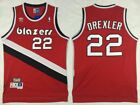 Clyde Drexler 22 Portland Trail Blazers Mens Red Classics Throwback Jersey