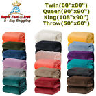 Fleece Blanket W/ Microfiber Polyester Fabric 240 GSM Twin/Throw/Queen/King Size image