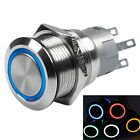 12V 12MM LED switch button Momentary latching robot car 4 legs w/ wiring guide