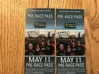 KANSAS SPEEDWAY, 2-PRE-RACE PASSES FOR SATURDAY MAY 11TH. 2019; WATCH CONCERT