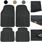 Car Floor Mats 4 Pieces Set Rubber Heavy Duty Protection Interior Trimmable $14.50 USD on eBay