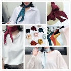 Women Elegant Silk Feel Satin Scarf Vintage Head-Neck Hair Tie Band Boho Scarves