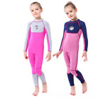 Kids Girl 3mm Neoprene Full body Diving Suits Children Surf Swim Scuba Wetsuits