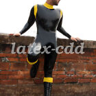 100 Rubber Latex Bodysuit Handsome Man Racing Suit Catsuit S-XXL
