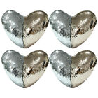 1/2/4pcs Mermaid Pillow Cover  Reversible Glitter Sequin Sofa Cushion Heart Case image
