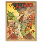Pal Singer Loie Fuller Folies Bergere Show Advert Framed Wall Art Poster