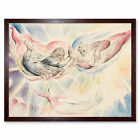 William Blake St Peter And St James With Dante And Beatrice Print Framed 12x16