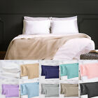 US Sell 2 Silky Satin Pillow Case Cushion Cover Pillowcase Standard King Queen image