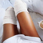 New Girls Ladies Women Thigh High the Knee Socks Long Cotton Stockings Warm