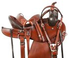 Pleasure Trail Western Leather Arabian  Horse Saddle Tack Set 15 17 18