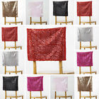 SEQUIN Square Top CHAIR CAP COVERS Wedding Reception Party Supply SALE