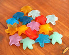 PICK COLOR 2pc 20mm Starfish Top drilled Pendant Sea Glass frosted Bead recycled