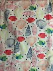 SCRUB TOP SIZES: M, L, XL FISH SEASHELLS NWT NURSE MEDICAL VET CNA DENTAL WORK