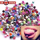 30 X Colorful Flexi Glitter Tongue Rings Body Piercing Jewelry Tounge Bars Cool