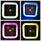 New US Plug in LED Night Light Auto Induction Sensor Control Bedroom Bed Lamp