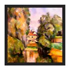 Paul Cezanne Country House By A River Cropped Square Framed Wall Art 16X16 In