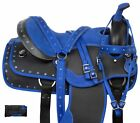 USED BLUE SYNTHETIC LIGHT WEIGHT WESTERN HORSE SADDLE TRAIL 16
