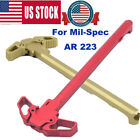 Charging Handle RED Metal Ambidextrous AMBI Handle Accessory for Mil-Spec³ AR³