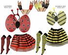 Bumble Bee Ladybird Kids Girls Fancy Dress Kit Wings, Deeley Bopper, Fingerless