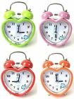 Modern Heart Round Shape Mute Alarm Clock Bedside Desktop Table Clocks