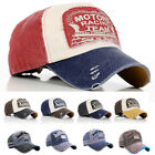 Unisex Fashion Vintage Retro Motorcycle Caps Baseball Golf Cotton Adjustable Hat