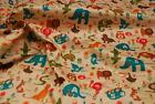 Waterproof PVC RIPSTOP Nylon Fabric Material - ALPHABET ANIMALS