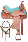Beautiful Western Trail Barrel Racing Turquoise Show Horse Saddle Tack 14 in