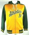 Oakland Athletics Men's G-III Large Fleece Lined Yellow Full Zip Hoodie MLB on Ebay