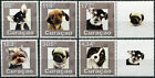 Curaçao. 2015. Dogs (MNH OG) Set of 6 stamps and 2 labels