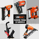 UNIMAC Nail Gun Nailer Brad Cordless Framing Coil Electric Finish Battery Air