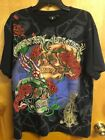 Christian Audigier Skull with RosesT-Shirt Men Embellishment sz 2XL blk/3XL tpe