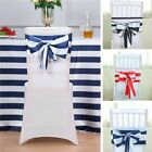 Satin Stripe Chair Sashes Wedding Party Reception Home Decorations Wholesale