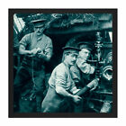 Illustrated WWI War News 1914 British Gunners Action Photo Square Framed Wall Ar