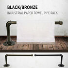 Industrial Iron Pipe Roll Paper Towel Holder Urban Rustic DIY Steampunk Wall US