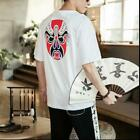 Used, 19 Summer New Peking Opera Facebook Print Men's Short-sleeved T-shirt Casual Tee for sale  Shipping to Canada