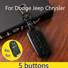5 Buttons Carbon Fiber Leather Key Case Cover Fits for Chrysler Jeep Dodge $14.99 USD on eBay