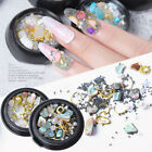 Crystal Rhinestones 3D Nail Rose Stone Nail Beads Metal Rivet Nail Art Supplies