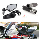 "Universal 7/8"" Rear View Bar End Mirrors Handle Bar Hand Grips For BMW S1000RR $8.9 USD on eBay"