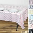 54x108 in. Polka Dots Disposable PLASTIC TABLE COVERS Tablecloth Birthday Party