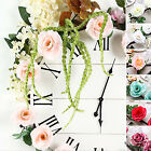 6 feet Garland Silk Rose Flowers and Leaves Wedding Party Decorations Supplies