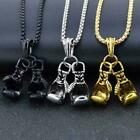 Gold Silver Plated Boxing Glove Sports Pendant Chain Mens Boy Necklace 3846 H6w2