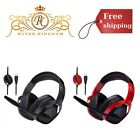 Gaming Headset With Microphone For PC USB Pro Black Red Desktop Accessories