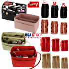 Multi-Pocket Insert Bag Felt Fabric Purse Handbag Bag Liner Tote Organizer S/M/L image