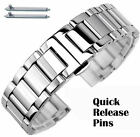 Stainless Steel Bracelet Replacement Watch Band Strap Push Butterfly Clasp #5010 image
