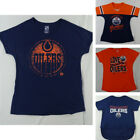 Edmonton Oilers NHL Girls Short Sleeve Graphic T-Shirt's in Multiple Styles $14.99 USD on eBay